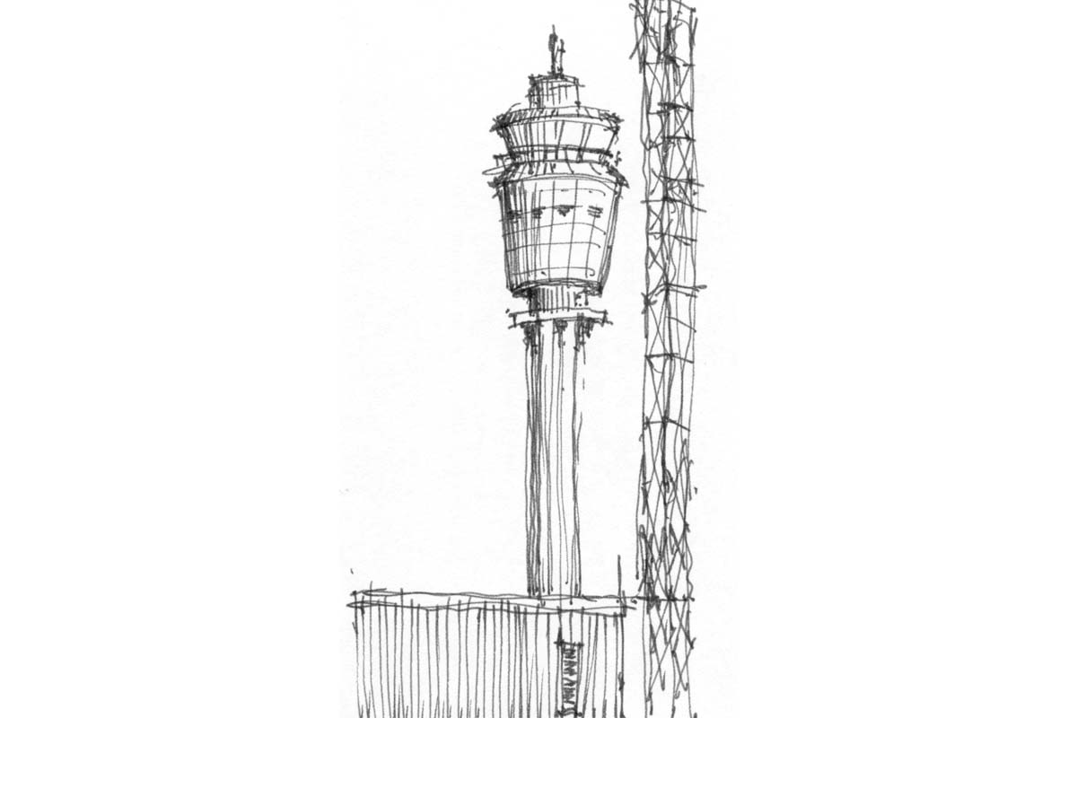 airport tower  -  Atlanta, Georgia
