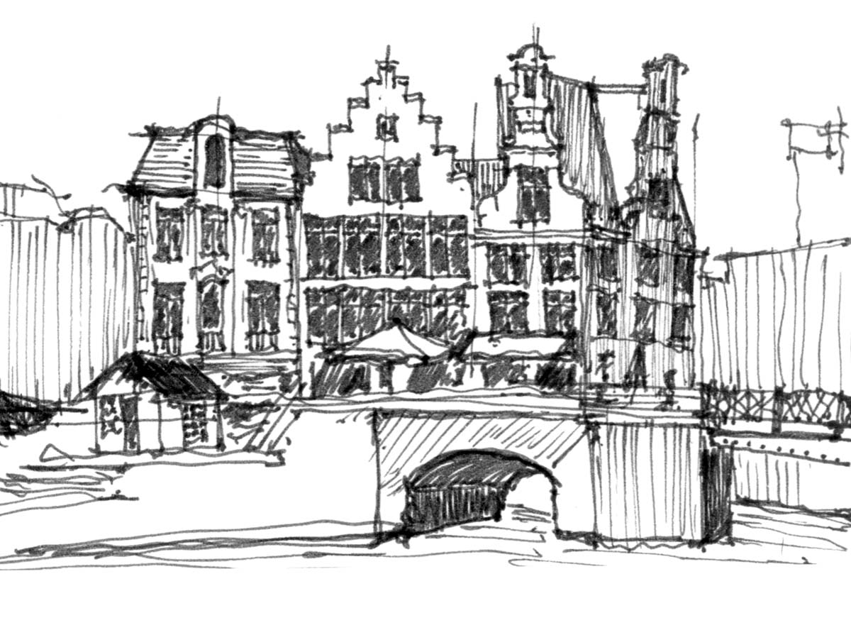 the Graslei  -  Ghent, Belgium