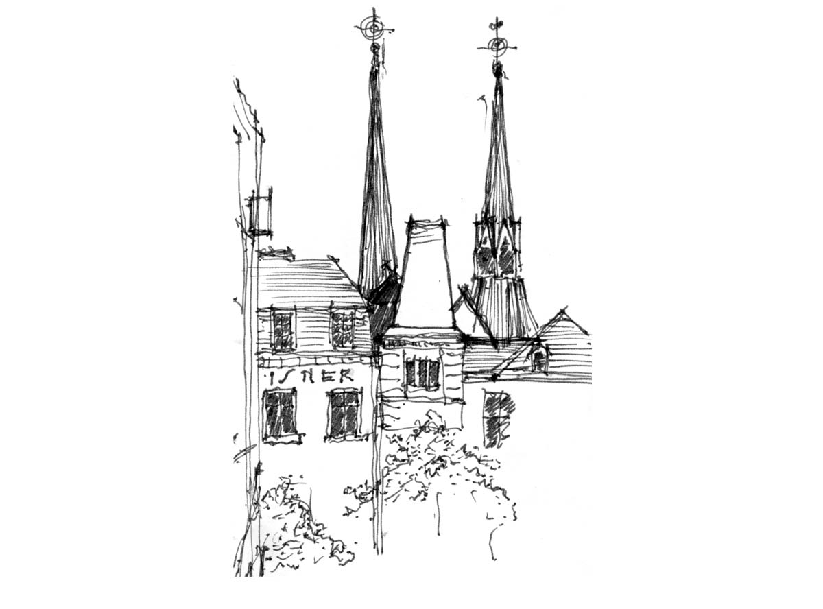 church spires  -  Luxembourg