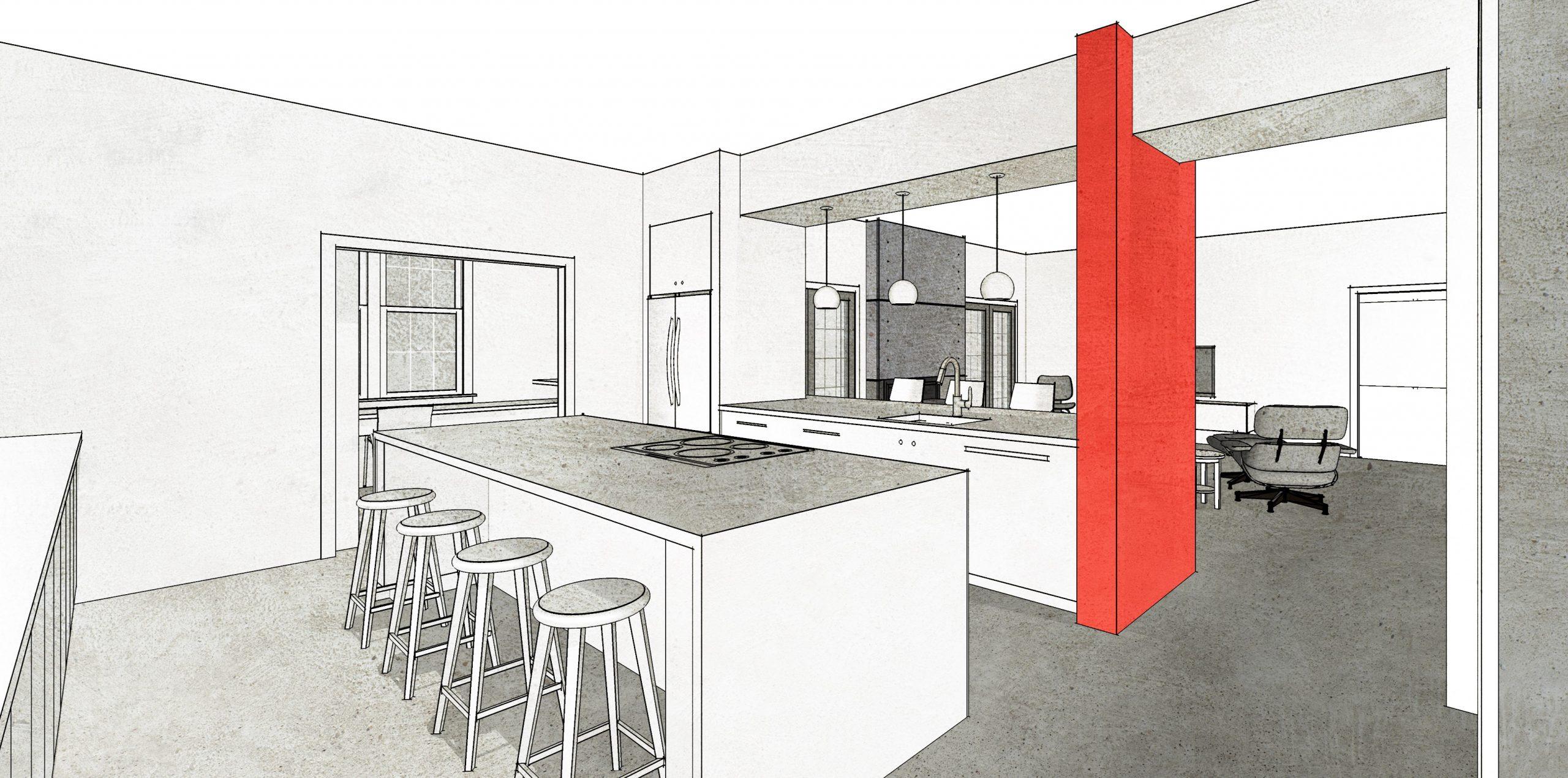 Modern Basement in Suburban Home